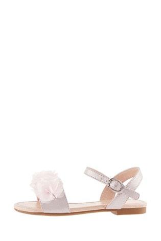 Monsoon Pink Corsage Shimmer Sandals