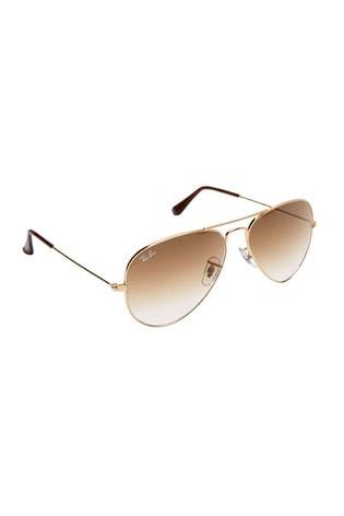 Ray-Ban® Rose Gold Aviator Large Metal Sunglasses
