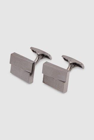 Gunmetal Textured Cufflinks