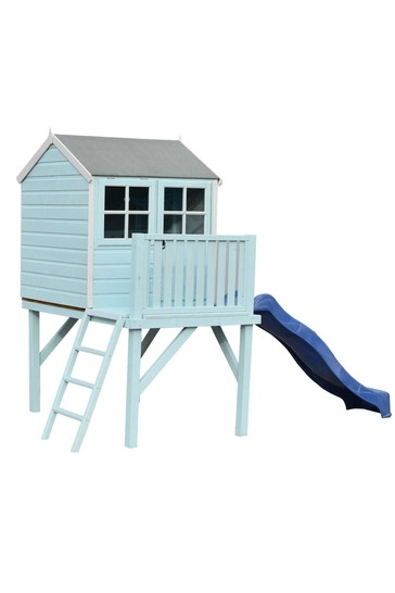 Dovecote Painted Playhouse with Slide