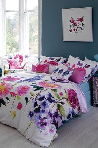 Bluebellgray Taransay Floral Cotton Duvet Cover and Pillowcase Set