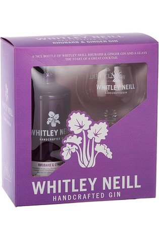 Rhubarb And Ginger Gin And Balloon Glass Gift Set by Whitley Neill