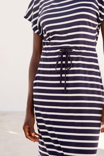 Navy/White Jersey Dress