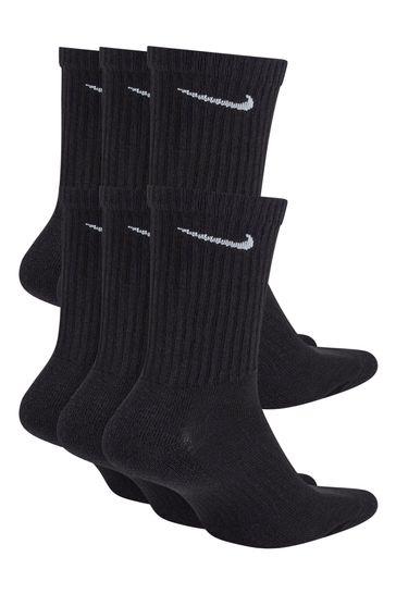 Nike Black Cushioned Crew Socks Six Pack