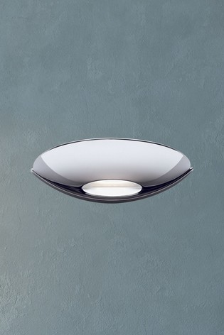 Clara LED Frosted Glass Uplight Wall Bracket by Searchlight