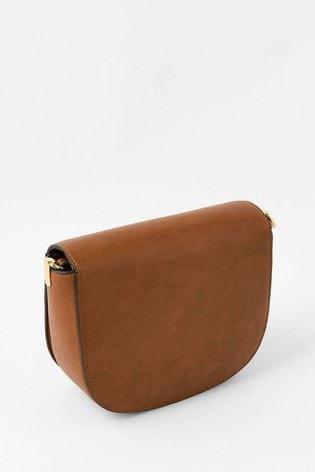 Accessorize Tan Eloise Patchwork Cross Body Bag