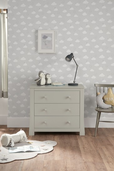 Mia Pebble Grey Dresser by Mamas and Papas