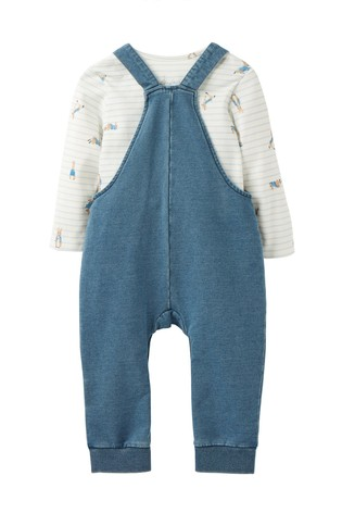 Joules Blue Wilbur Denim Dungaree Set