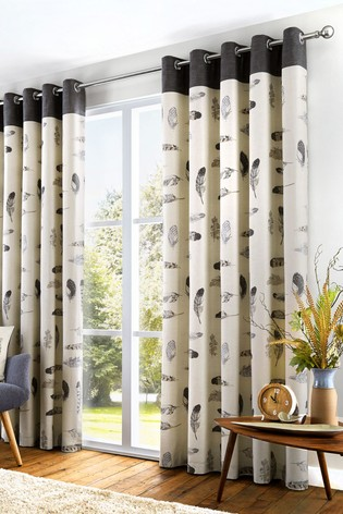 Fusion Grey Idaho Feather Lined Curtains
