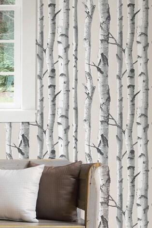 NuWalls Birch Tree Self Adhesive Wallpaper