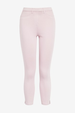 Lilac Jersey Cropped Leggings