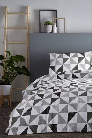Fusion Geometric Duvet Cover and Pillowcase Set