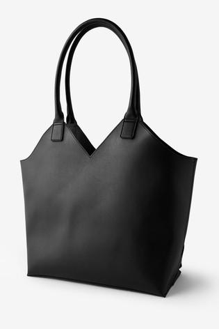 Accessorize Black Harley Weave Shopper Bag