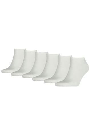 Tommy Hilfiger White Trainer Socks Six Pack