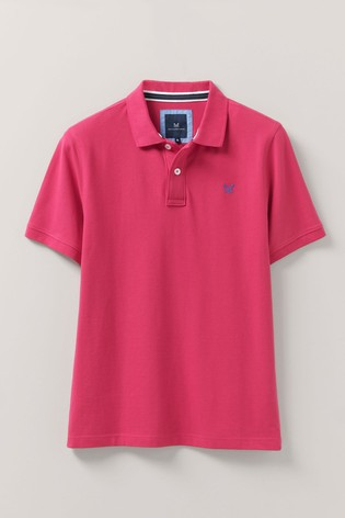 Crew Clothing Company Red Classic Pique Polo