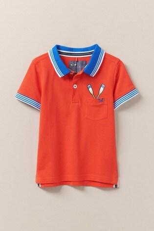 Crew Clothing Orange Oars Pocket Classic Pique Polo