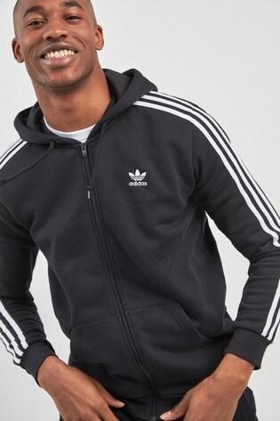 adidas Originals 3 Stripe Zip Through Hoody