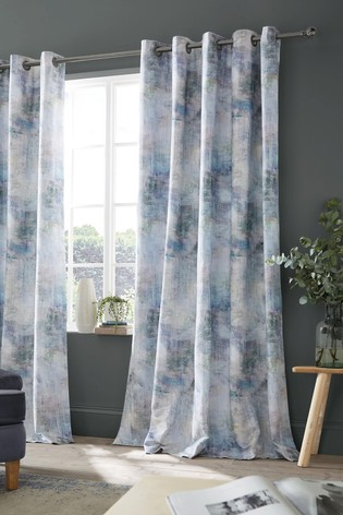 Voyage Monet Lined Eyelet Curtains