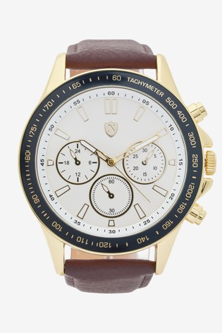 Brown Sports Style Watch