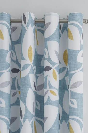 Inga Leaf Eyelet Curtains by Catherine Lansfield