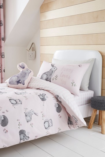 Catherine Lansfield Woodland Friends Easy Care Bed Set