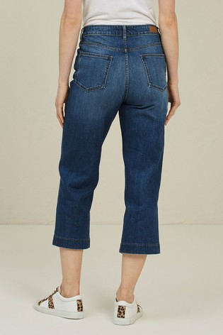 FatFace Mid Wash Salcombe Denim Cropped Jeans
