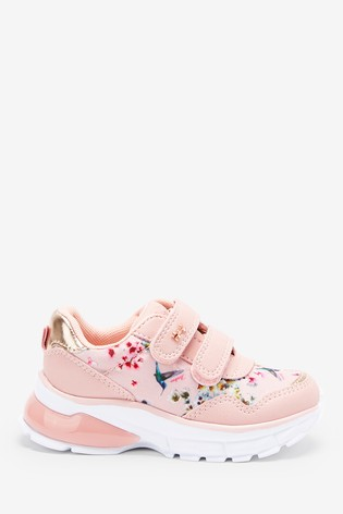 Baker by Ted Baker Pink Floral Velcro Trainers