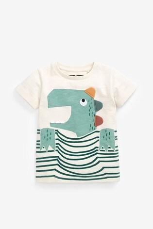 Mineral Dino Appliqué T-Shirt (3mths-7yrs)