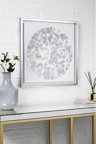 Small Diamond Framed Canvas