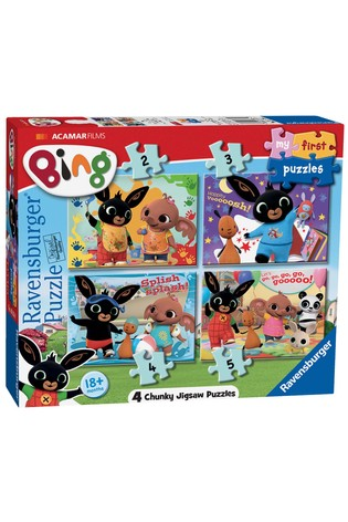 Ravensburger Bing Bunny My First Puzzle 2, 3, 4 & 5pc Jigsaw Puzzles