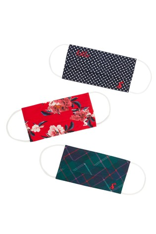 Joules Blue Face Covering Pack