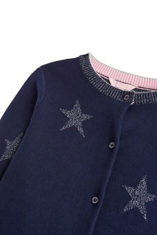 Joules Strickjacke mit Stern Intarsie, französisch marineblau