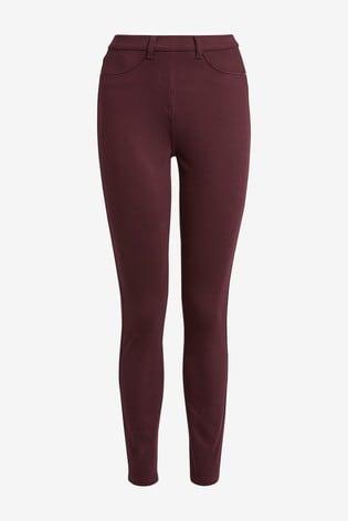 Berry Jersey Denim Leggings
