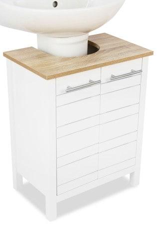 Lloyd Pascal White And Oak Effect Under-Sink Storage