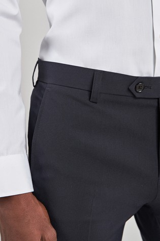 Navy Super Skinny Fit Stretch Formal Trousers