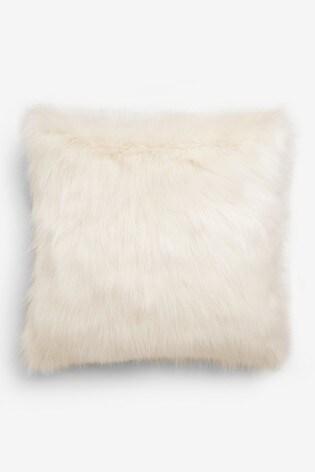 Arctic Cosy Faux Fur Square Cushion