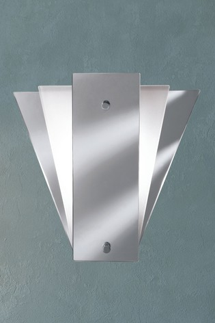 Cloro Deco Fan Style Frosted Mirror Wall Light by Searchlight