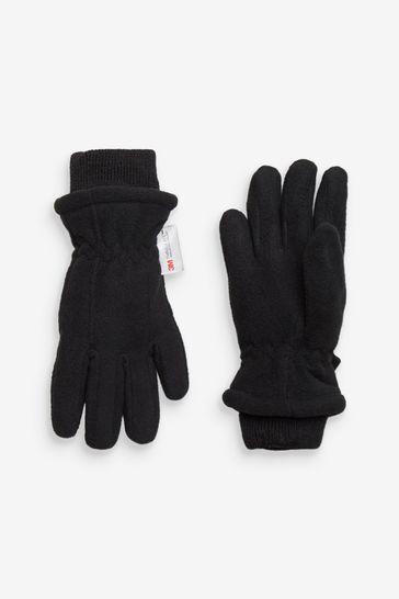 Black Fleece Gloves (3-16yrs)