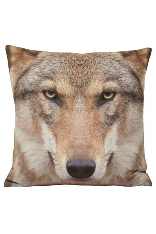 Riva Home Cream Wolf Cushion