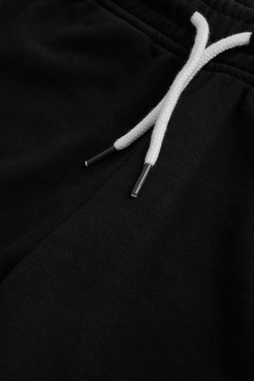 Black Jersey Shorts (3-16yrs)