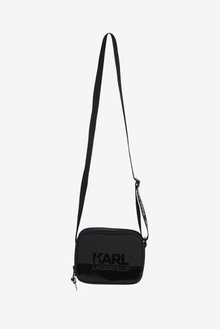 Karl Lagerfeld Black Logo Shoulder Bag
