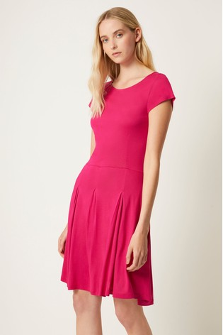 French Connection Pink Meadow Fit And Flare Dress