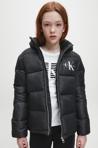 Calvin Klein Jeans Black Essential Padded Jacket