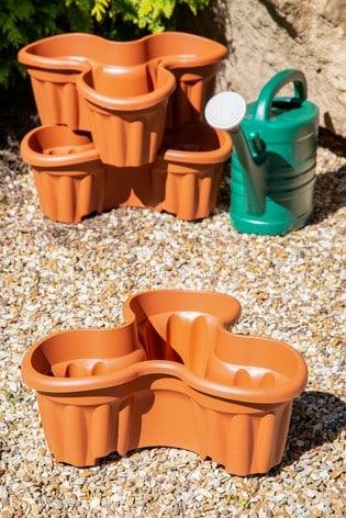 Set of 3 Vista Medium Plastic Tri-Planter