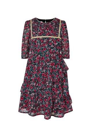 Monsoon Red Ditsy S.E.W Dress
