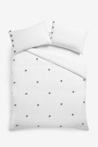 Fluffy Pom Pom Duvet Cover And Pillowcase Set