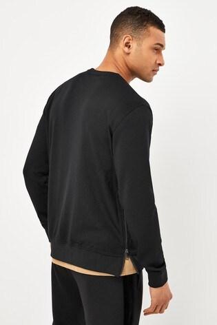 Armani Exchange Black Logo Sweat Top