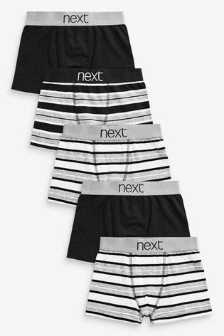 Monochrome 5 Pack Stripe Trunks (2-16yrs)