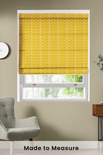 Linear Stem Dandelion Yellow Made To Measure Roman Blind by Orla Kiely