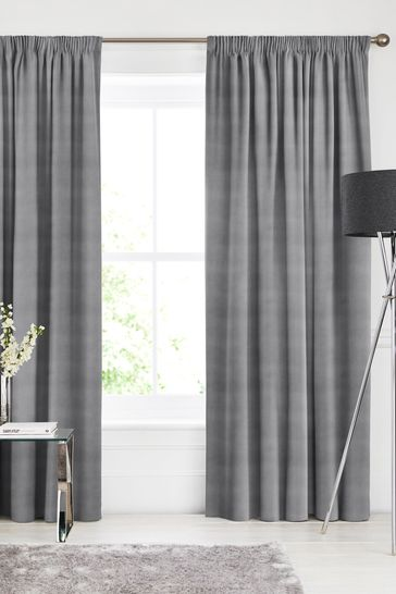 Otto Silver Made To Measure Curtains